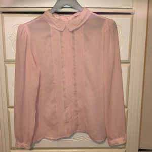 Beautiful CLASSY VINTAGE lace and pink blouse!
